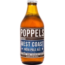 Poppels West Coast IPA - Bottle 330ml